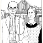 Gothic Coloring Book Elegant Stock Grant Wood American Gothic Dover Publications