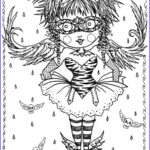 Gothic Coloring Book Unique Gallery Instant Download 5 Pages Gothic Angels Art Digital Coloring