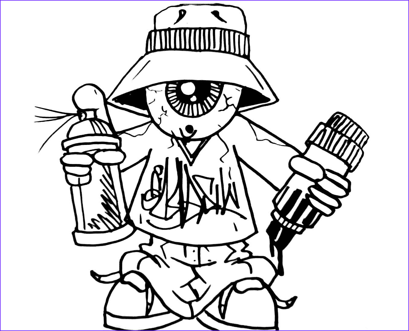 Graffiti Coloring Pages New Stock Graffiti Coloring Pages for Teens and Adults Best