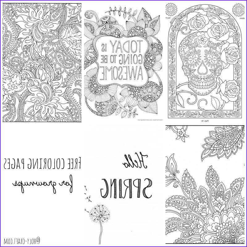 free coloring pages round up for grown