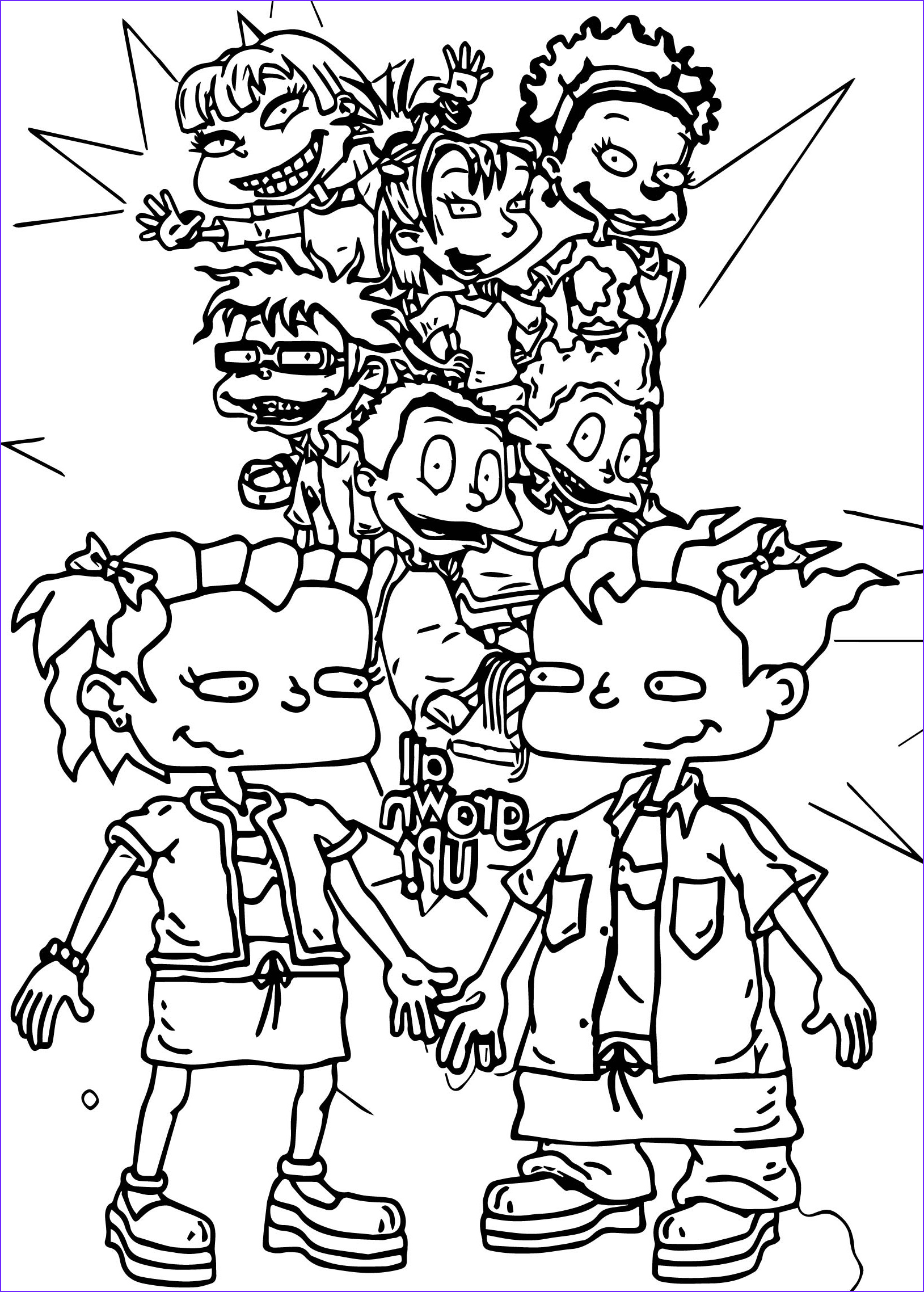 grown rugrats coloring page