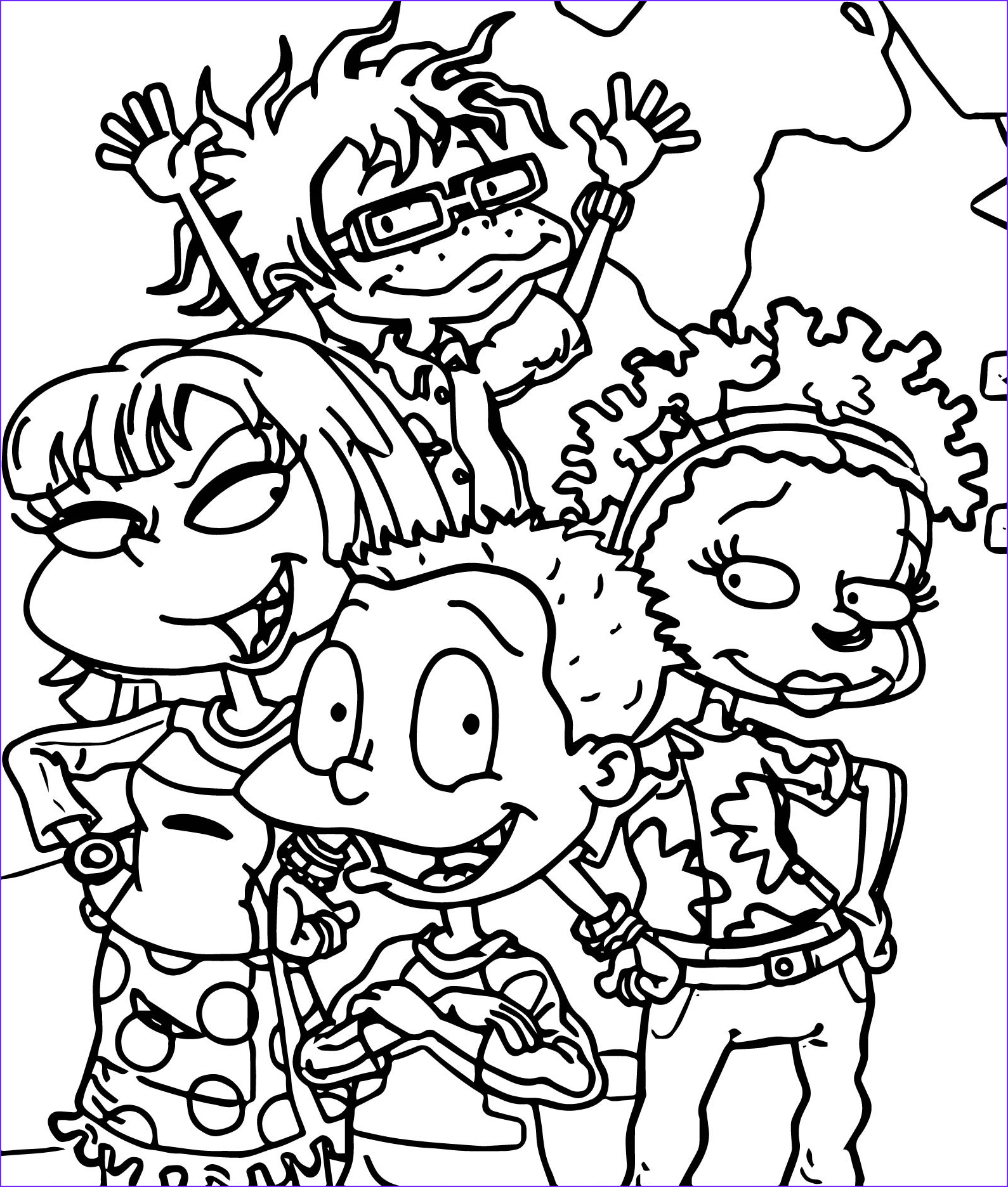 rugrats all grown up all grown up coloring page