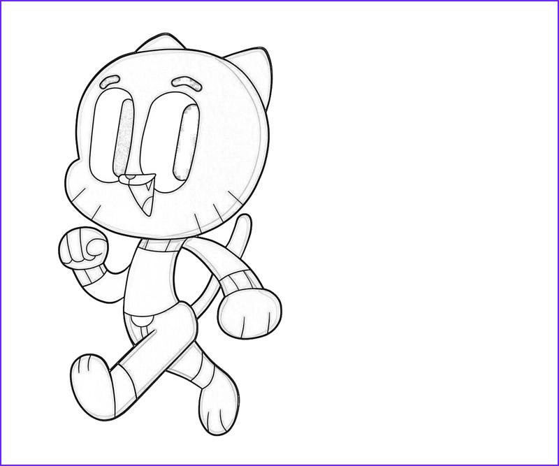 Gumball Coloring Pages Beautiful Images Gumball Watterson Move