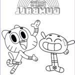 Gumball Coloring Pages Cool Photos Gumball And Anais The Amazing World Gumball Coloring