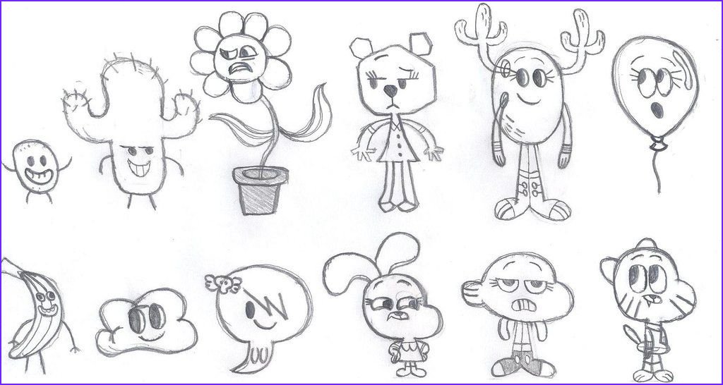 Gumball Coloring Pages Inspirational Image Gumball Cartoon Characters Coloring Pages
