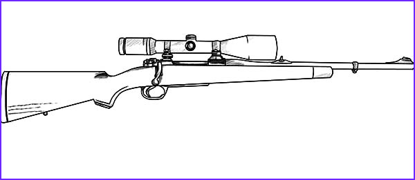 gun coloring pages