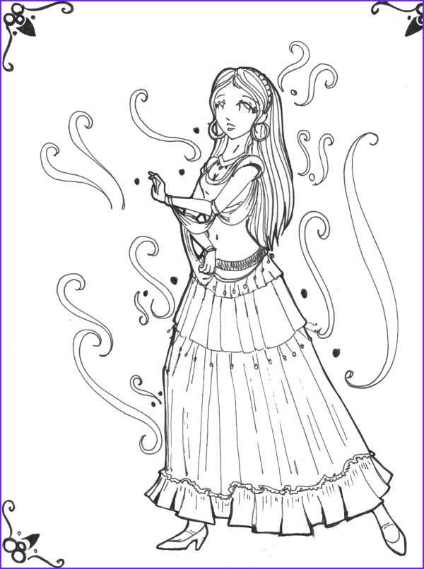gypsy coloring pages