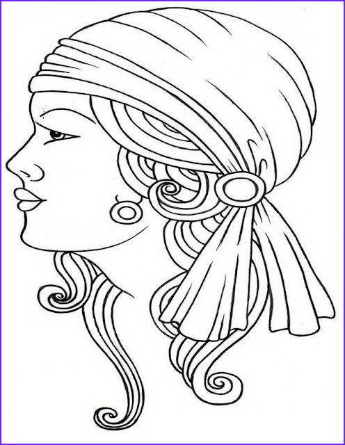 Gypsy Coloring Pages Beautiful Image Gypsy Line Drawing Gypsy Woman Pinterest