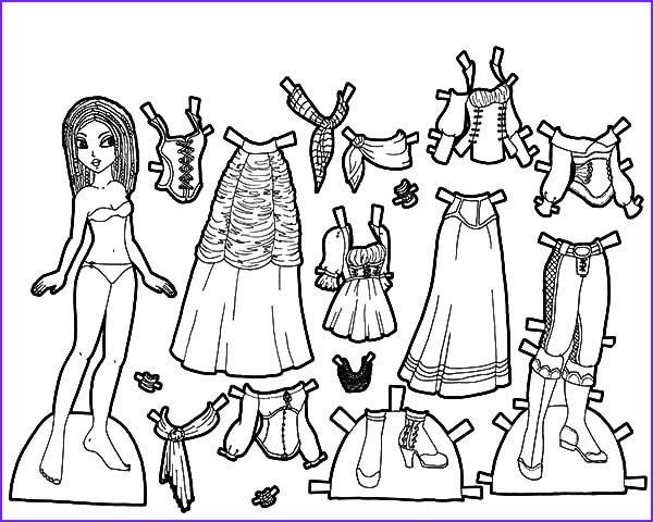 gypsy rose doll dress coloring pages