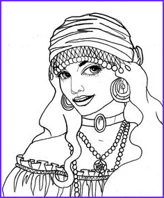 Gypsy Coloring Pages Beautiful Photos Gypsy Coloring Page