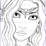 Gypsy Coloring Pages Elegant Photos Gypsy Girl Digital Stamp Colouring Page Printable Instant