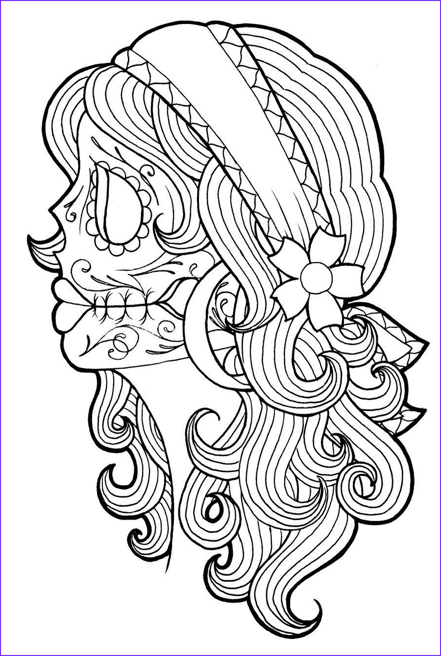 Gypsy Coloring Pages Unique Photos Day Of the Dead Gypsy by Koyasan On Deviantart