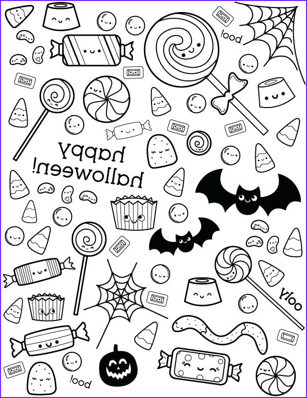 halloween candy coloring pictures
