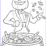 Halloween Candy Coloring Pages Awesome Photos Pumpkin Jack O Lantern Throwing Some Candy Treats On