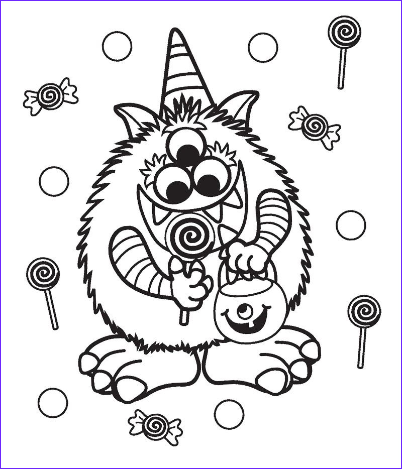 Halloween Candy Coloring Pages Beautiful Gallery Halloween Candy Critter Coloring Page Cookie