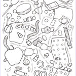 Halloween Candy Coloring Pages Best Of Collection Halloween Candy Coloring Page – Eliza Stein Illustration