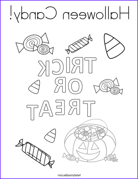 halloween candy 6 coloring page
