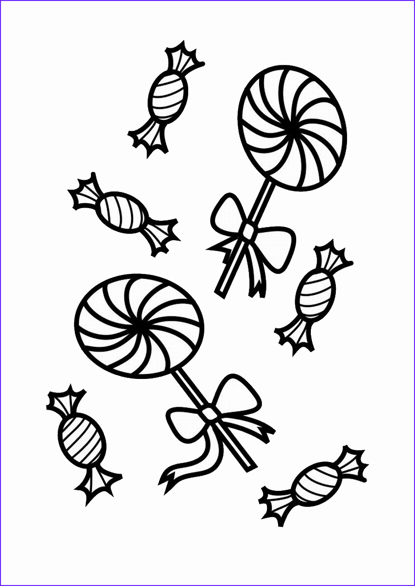 halloween candy coloring pages 2