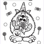 Halloween Candy Coloring Pages New Collection Halloween Coloring Pages For Girls Coloring Home