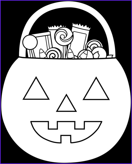 halloween trick or treat coloring page 2271
