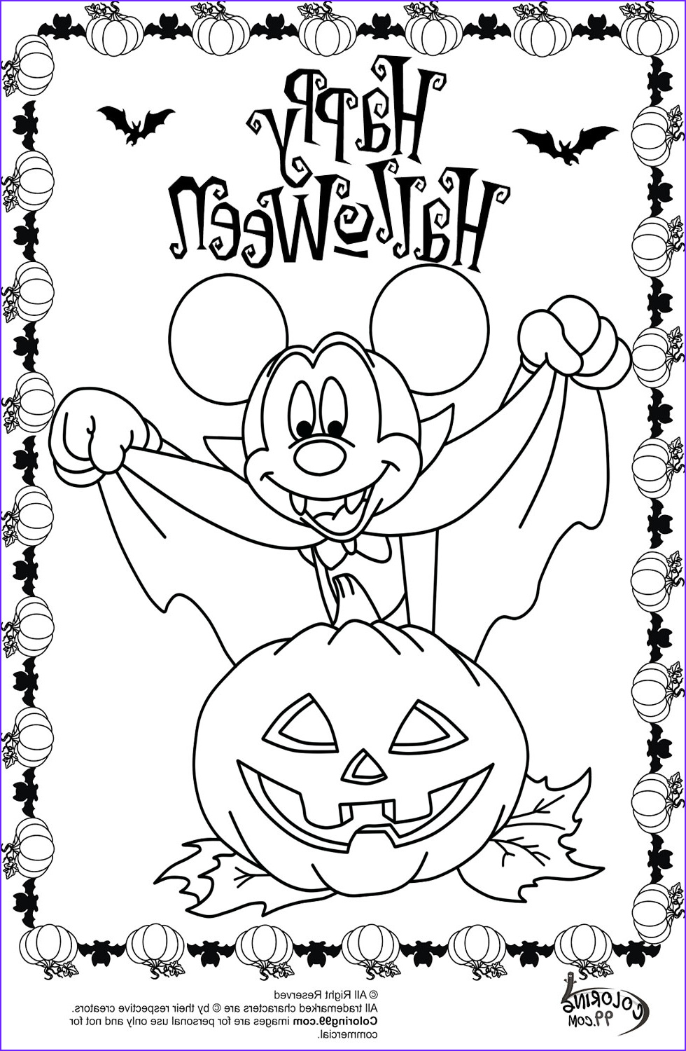 Halloween Coloring Awesome Image Minnie and Mickey Mouse Coloring Pages for Halloween
