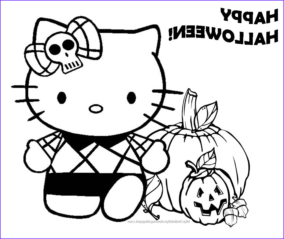 Halloween Coloring Book Cool Photography Hello Kitty Coloring Pages