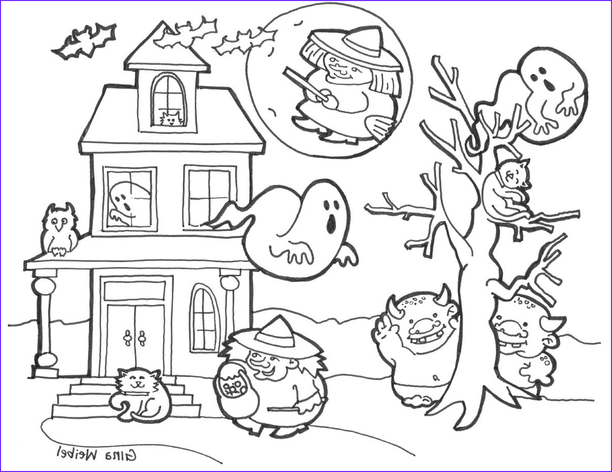 Halloween Coloring Book Unique Photos Making Musicians Halloween Coloring Witches Black Cats