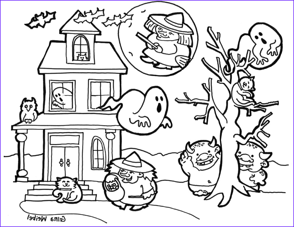 Halloween Coloring Books Unique Image 30 Cute Halloween Coloring Pages for Kids