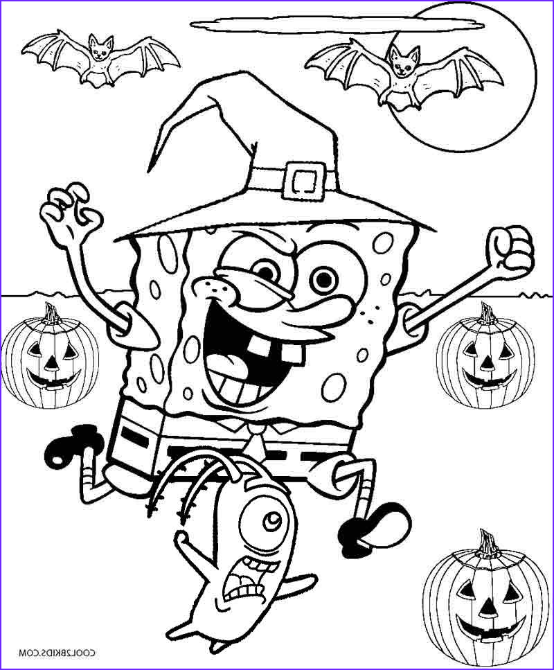 Halloween Coloring Cool Photos Printable Spongebob Coloring Pages for Kids