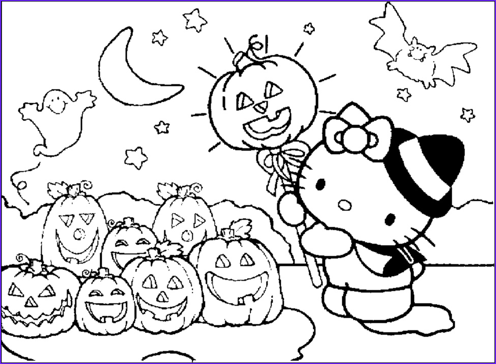 Halloween Coloring New Image Hello Kitty Halloween Coloring Pages