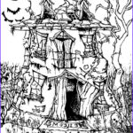 Halloween Coloring Pages Adults Awesome Photos Art Therapy Coloring Page Halloween Manor House Halloween 8