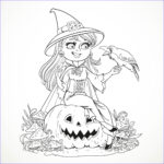 Halloween Coloring Pages Adults Awesome Photos Halloween Smiling Witch And Crow Halloween Adult
