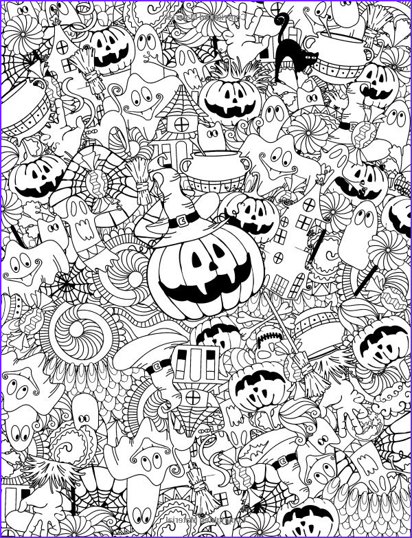 Halloween Coloring Pages Adults Beautiful Collection 114 Best Images About Halloween Colors On Pinterest