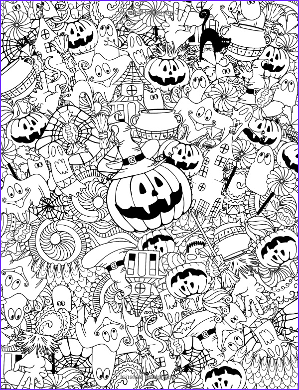 Halloween Coloring Pages Adults Beautiful Photos Adult Coloring Book Happy Halloween for Relaxation and