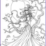 Halloween Coloring Pages Adults Luxury Gallery Best 25 Halloween Coloring Ideas On Pinterest