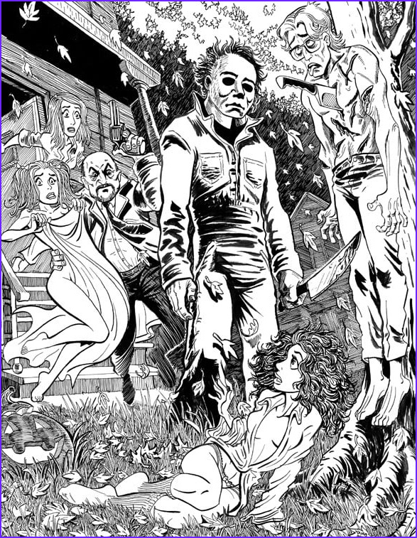 Get coloring page Michael Myers