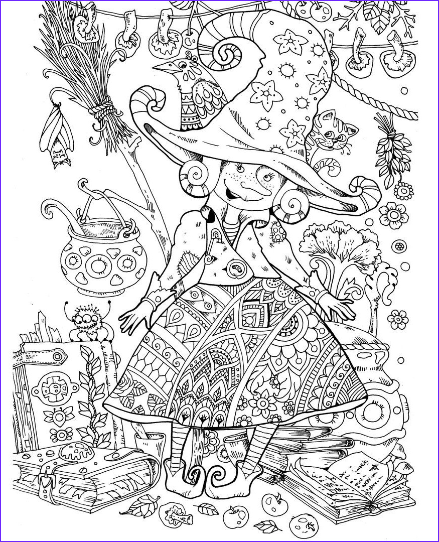 Halloween Coloring Pages Adults New Image Pin by Heather H On Halloween In 2018 Pinterest