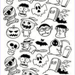 Halloween Coloring Pages Adults Unique Photos Halloween Doodle Characters Halloween Adult Coloring Pages