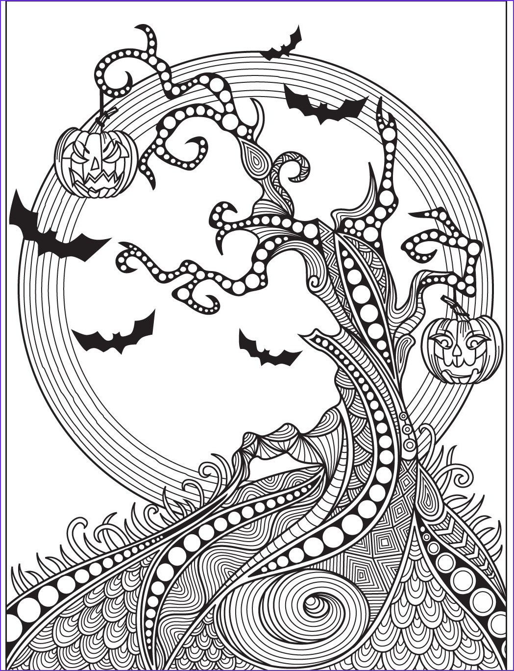 Halloween Coloring Pages for Adults Beautiful Images Halloween Coloring Page