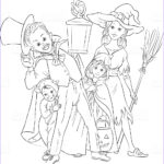 Halloween Costumes Coloring Pages Unique Photos Children Playing Trick Treat In Halloween Costumes