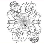 Halloween Mandala Coloring Pages Awesome Image 16 Best Halloween Colorings Images On Pinterest