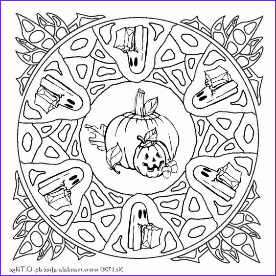 Halloween Mandala Coloring Pages Best Of Images Another Halloween Mandala