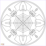 Halloween Mandala Coloring Pages Best Of Photos Halloween Mandala With Bats Coloring Page