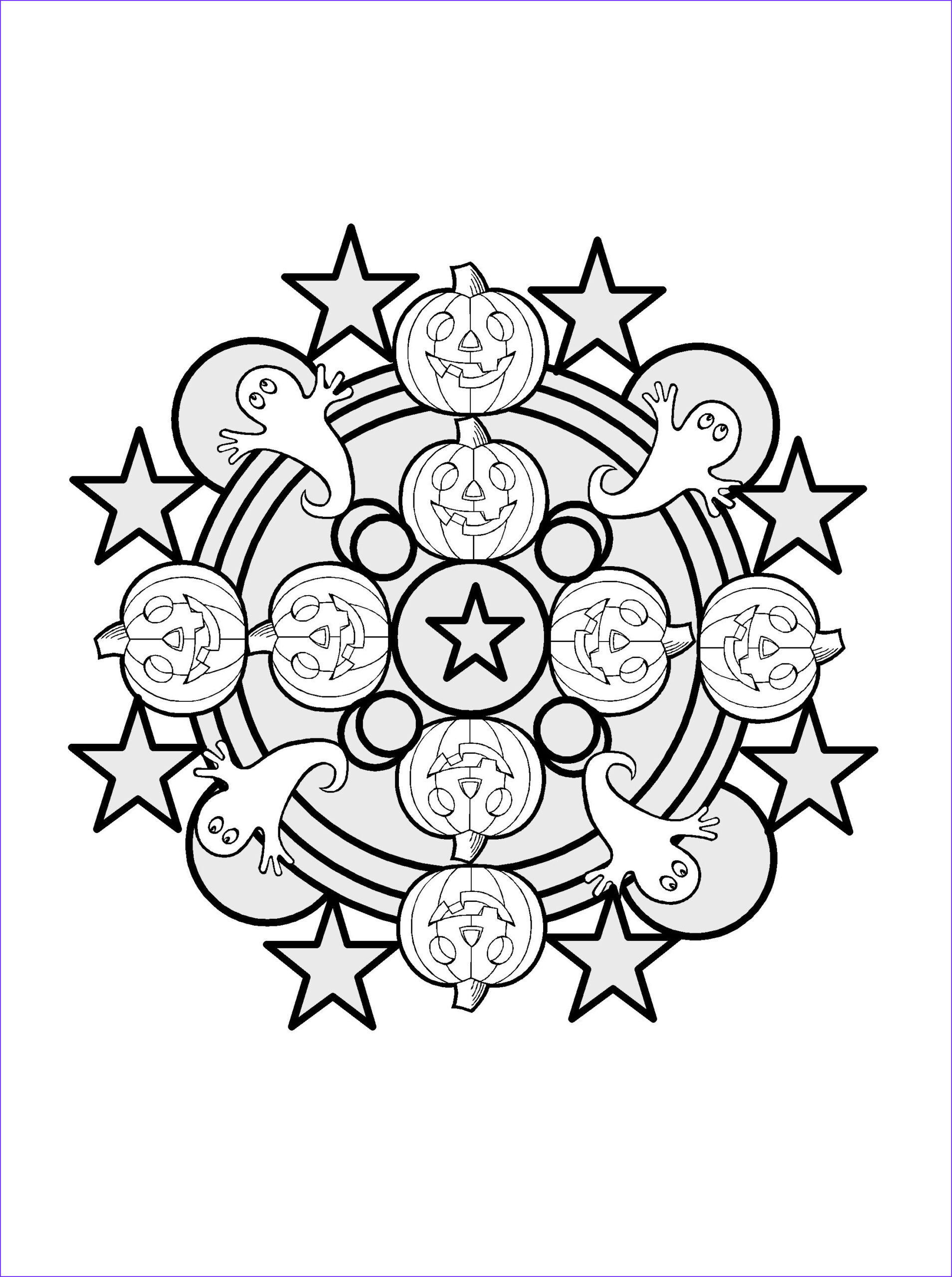 Halloween Mandala Coloring Pages Cool Collection Easy Halloween Mandala to Colour
