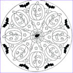 Halloween Mandala Coloring Pages Inspirational Collection Halloween Mandala Coloring Page Print Color Craft