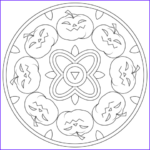 Halloween Mandala Coloring Pages Luxury Photography Halloween Mandala With Pumpkins Coloring Page