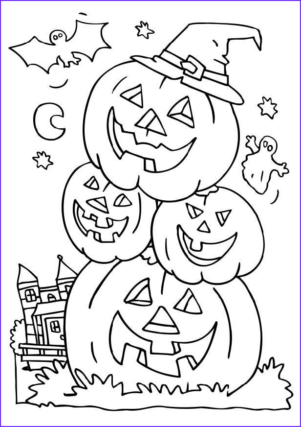 Halloween Pumpkin Coloring Awesome Image Halloween Coloring Pages to Print and Color