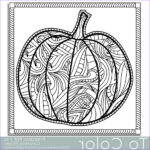 Halloween Pumpkin Coloring Beautiful Gallery Patterned Pumpkin Coloring Page For Adults Instant By Tocolor