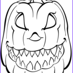 Halloween Pumpkin Coloring Cool Image Scary Pumpkin Coloring Page