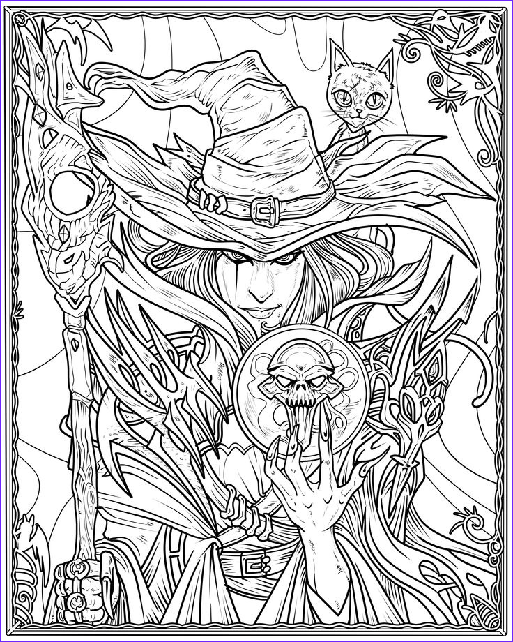 Halloween Witch Coloring Page Beautiful Images Witch Coloring Page Arts & Crafts and Diy
